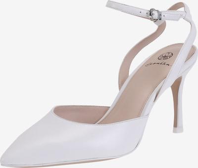 Ekonika Angesagte Slingpumps aus echtem Leder in weiß, Produktansicht