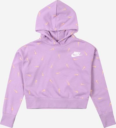 Nike Sportswear Sweatshirt in de kleur Geel / Lila / Wit, Productweergave