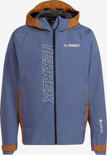 adidas Terrex Regenjacke in taubenblau / braun / gelb, Produktansicht