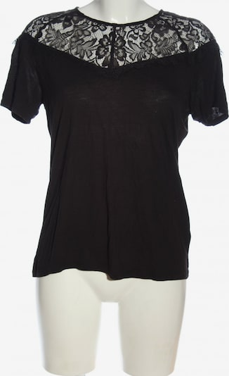 H&M Kurzarm-Bluse in S in schwarz, Produktansicht