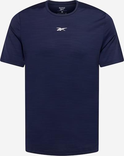 Reebok Sport T-Shirt fonctionnel en bleu foncé / blanc, Vue avec produit
