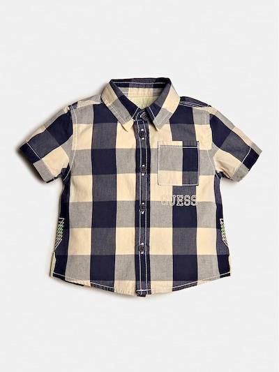 GUESS KIDS Hemd in dunkelblau / gelb / grau, Produktansicht