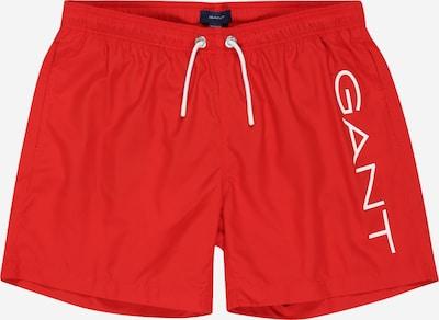 GANT Zwemshorts in de kleur Vuurrood / Wit, Productweergave
