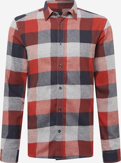 Only & Sons Hemd 'Gudmund' in blau / grau / rot, Produktansicht