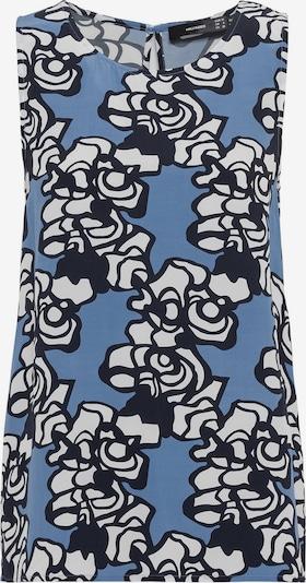 HALLHUBER Bluse in blau / schwarz / weiß, Produktansicht
