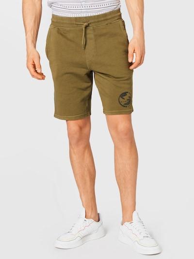BLEND Kalhoty - olivová / černá, Model/ka