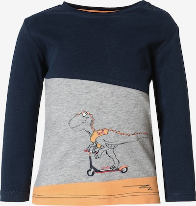 s.Oliver Shirt in de kleur Navy / Grijs / Sinaasappel, Productweergave