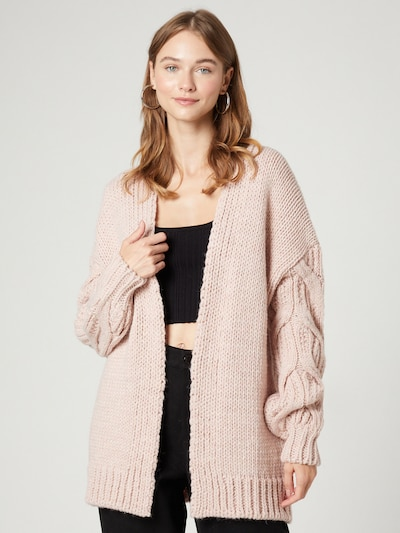 Guido Maria Kretschmer Collection Knit Cardigan 'Megan' in Pink, View model