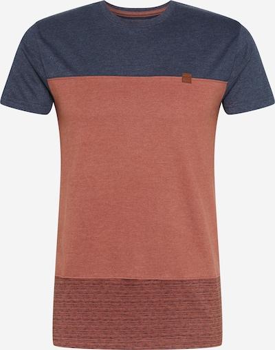 INDICODE JEANS Bluser & t-shirts 'Hammond' i navy / rustbrun, Produktvisning