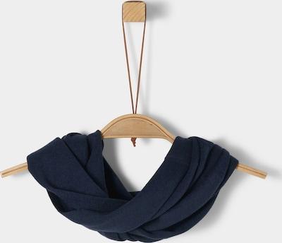s.Oliver Loop-Schal aus Feinstrick in dunkelblau, Produktansicht