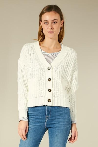 BLOOM Strickjacke mit überschnittenen Schultern in weiß / offwhite, Produktansicht