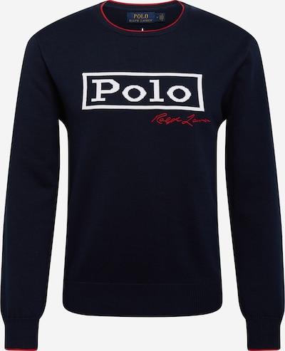 POLO RALPH LAUREN Pull-over en bleu marine / rouge / blanc, Vue avec produit