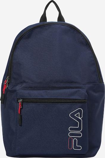 FILA Rucksack in dunkelblau / rot / weiß, Produktansicht