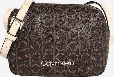 Calvin Klein Torba za čez ramo | bež / temno rjava barva, Prikaz izdelka