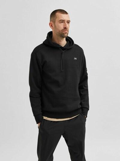SELECTED HOMME Sweatshirt in de kleur Zwart: Vooraanzicht