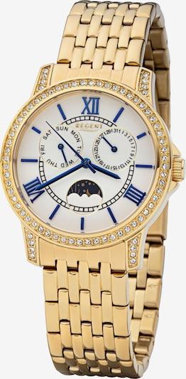 REGENT Uhr in blau / gold / weiß, Produktansicht