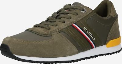 TOMMY HILFIGER Sneaker in dunkelblau / gelb / oliv / rot / weiß, Produktansicht