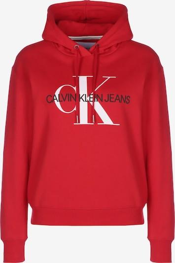Calvin Klein Jeans Hoodie ' Crop Monogram ' in rot, Produktansicht