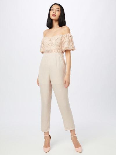 Tuta jumpsuit 'PEONY' Love Triangle di colore cipria, Visualizzazione modelli