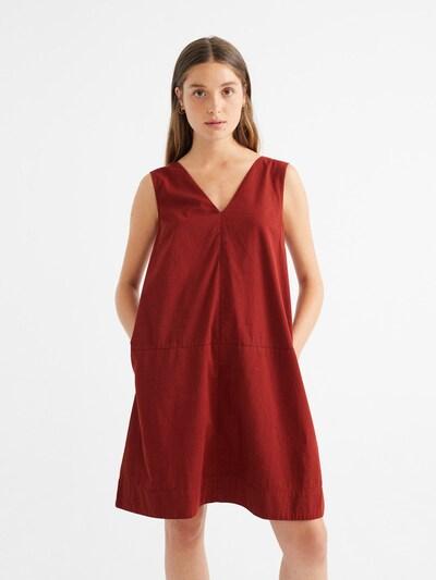 Thinking MU Kleid ' Vila Dress ' in dunkelrot, Modelansicht