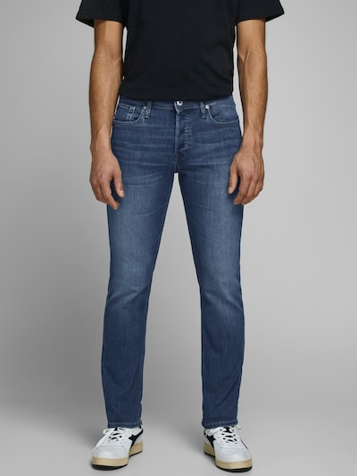 JACK & JONES Jeans 'Glenn' i blue denim, Modelvisning