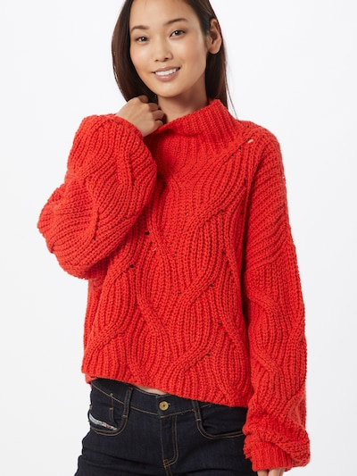 Free People Pullover in rot, Modelansicht
