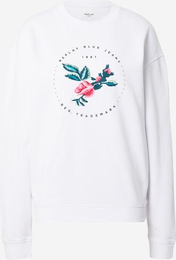 REPLAY Sweatshirt in mischfarben / weiß, Produktansicht