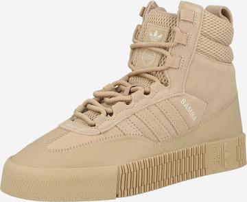 ADIDAS ORIGINALS High-Top Sneakers 'Samba' in Beige