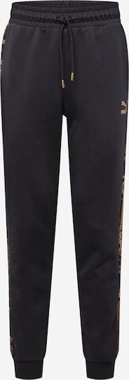 PUMA Sportbroek in de kleur Goudgeel / Zwart, Productweergave