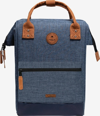 Cabaia Rucksack in blue denim / altrosa, Produktansicht