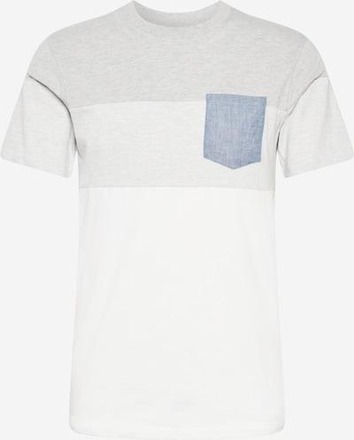 JACK & JONES T-Shirt in blue denim / hellgrau / graumeliert / weiß, Produktansicht