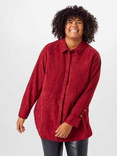 TRIANGLE Blouse in de kleur Kersrood: Vooraanzicht