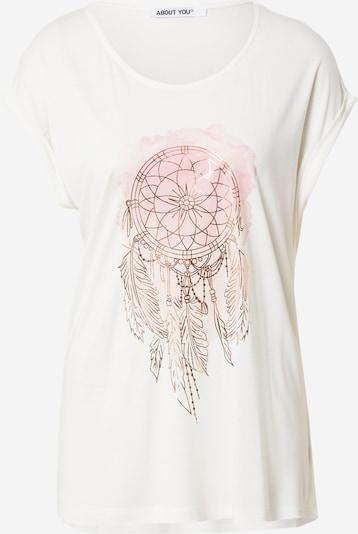 ABOUT YOU Tričko 'Laureen' - zlatá / růžová / bílá, Produkt