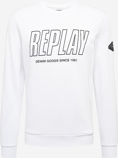 REPLAY Sweatshirt in schwarz / offwhite, Produktansicht