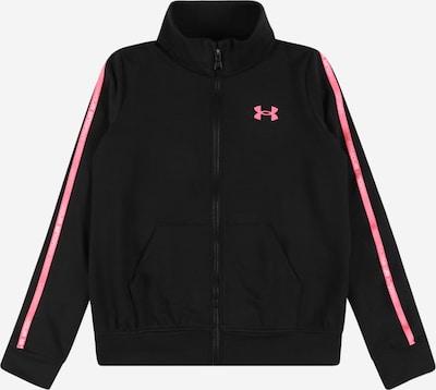 UNDER ARMOUR Sportsweatjacke in pink / schwarz, Produktansicht