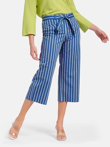 Basler Pleated Pants 'Carla' in Blue