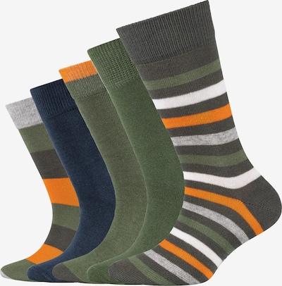 s.Oliver Socken 'Originals' in blau / dunkelgrün / orange / weiß, Produktansicht