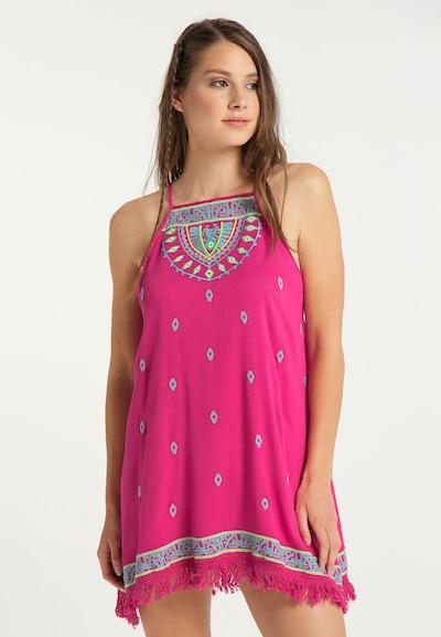 IZIA Kleid in türkis / pastellgelb / pink, Modelansicht