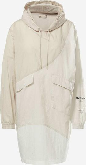Reebok Sport Jacke in beige / creme / weiß, Produktansicht