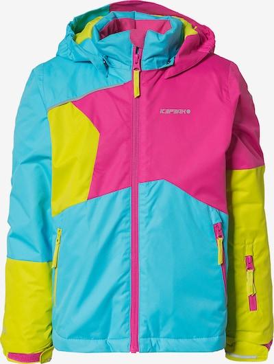 ICEPEAK Skijacke 'JIAN' in türkis / gelb / pink, Produktansicht