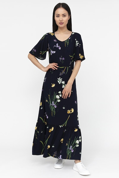 Finn Flare Maxi-Kleid in blau, Modelansicht
