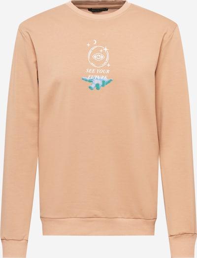 Trendyol Sweatshirt in grün / hellorange / weiß, Produktansicht