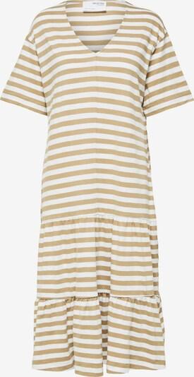 SELECTED FEMME Robe 'REED' en noisette / blanc, Vue avec produit