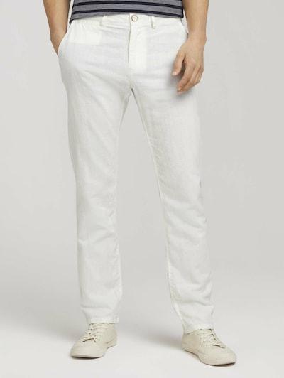 TOM TAILOR Chino 'Travis' in de kleur Wit: Vooraanzicht