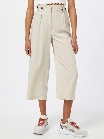 ONLY Kalhoty se sklady v pase 'THEIA' - krémová, Model/ka
