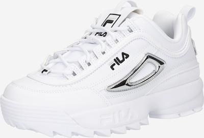 FILA Baskets basses en noir / argent / blanc, Vue avec produit