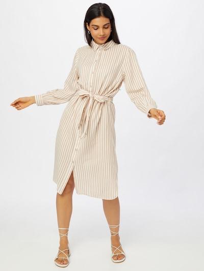 SAINT TROPEZ Kleid 'Augusta' in braun / weiß, Modelansicht