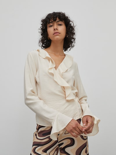 EDITED Bluse 'Skyler' in beige, Modelansicht
