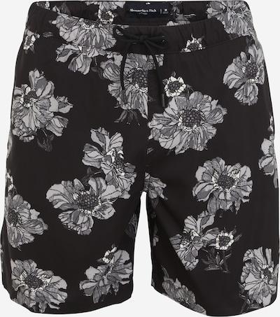Abercrombie & Fitch Badeshorts in schwarz / weiß, Produktansicht