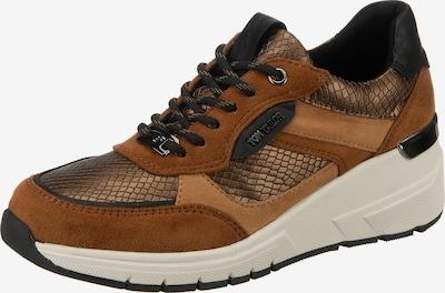 TOM TAILOR Sneaker in beige / braun / hellbraun / schwarz, Produktansicht